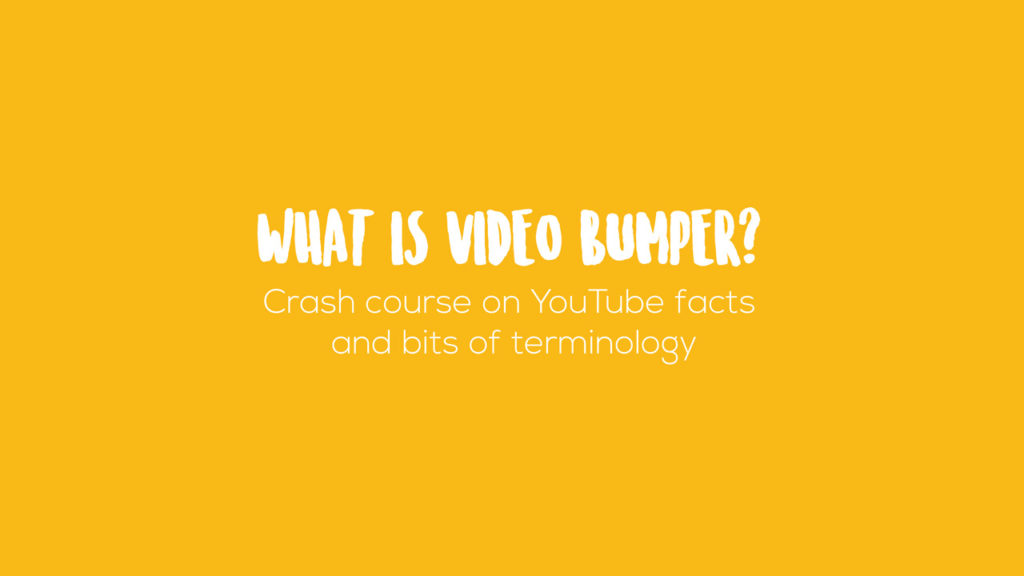 Video bumper image